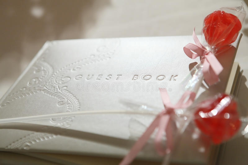 Livre d'invité photos stock