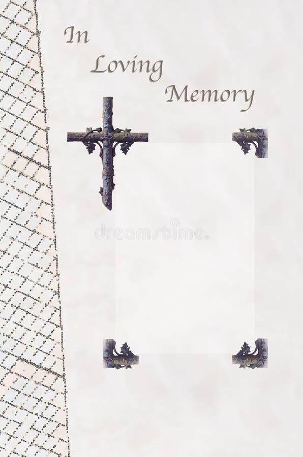 Livre d'invité funèbre image stock