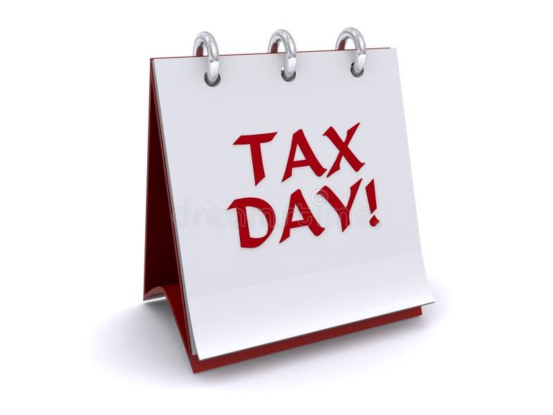 Livre de chiquenaude de jour d'impôts illustration de vecteur