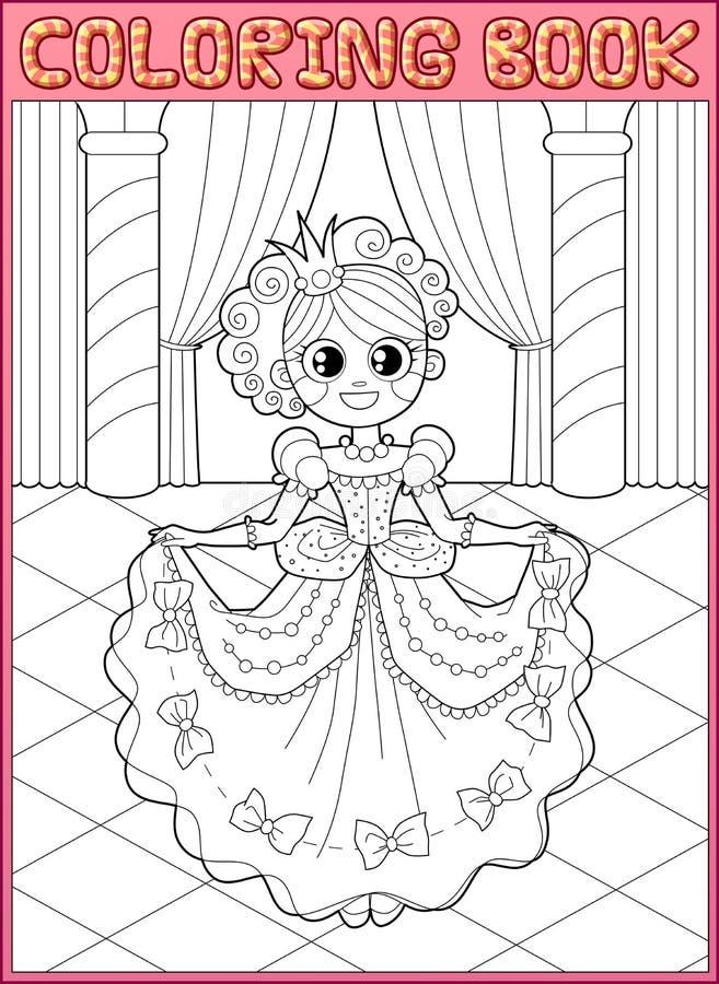 Livre de coloration Arrière féerique illustration de vecteur