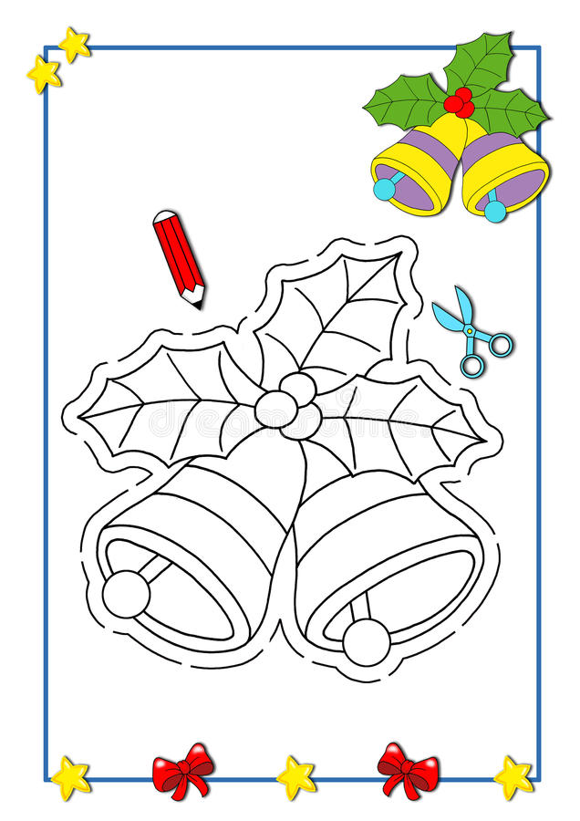 Livre de coloration de Noël 5 illustration stock