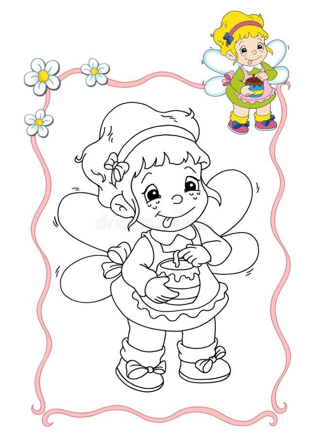 Livre de coloration - fée 9 illustration libre de droits
