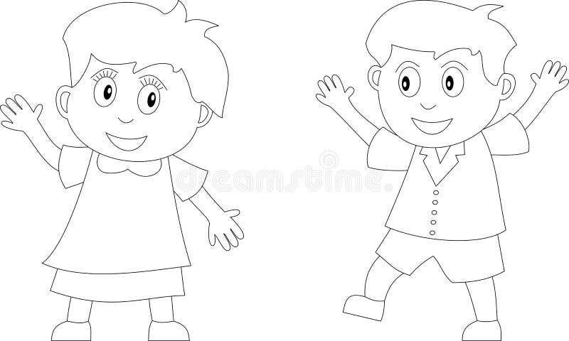 Livre de coloration pour les gosses [2]   illustration libre de droits