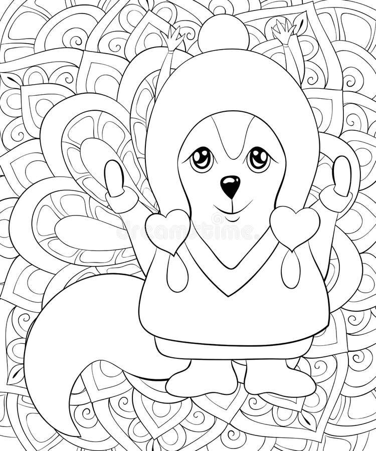 Livre De Coloriage Adulte Page Un Ecureuil Mignon Pour La Detente Ligne Art Style Illustration Illustration De Vecteur Illustration Du Detente Adulte 132306325
