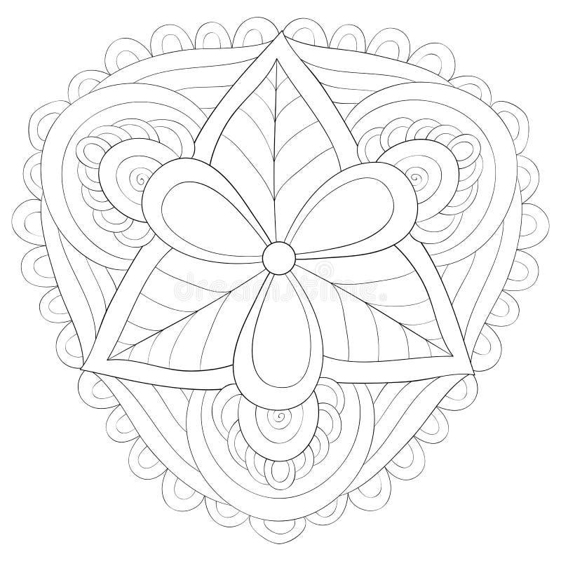 Livre De Coloriage Adulte Page Une Image De Mandala De Zen Pour La D Tente Ligne Art Style Illustration Illustration De Vecteur Illustration Du Mandala Style 145482282