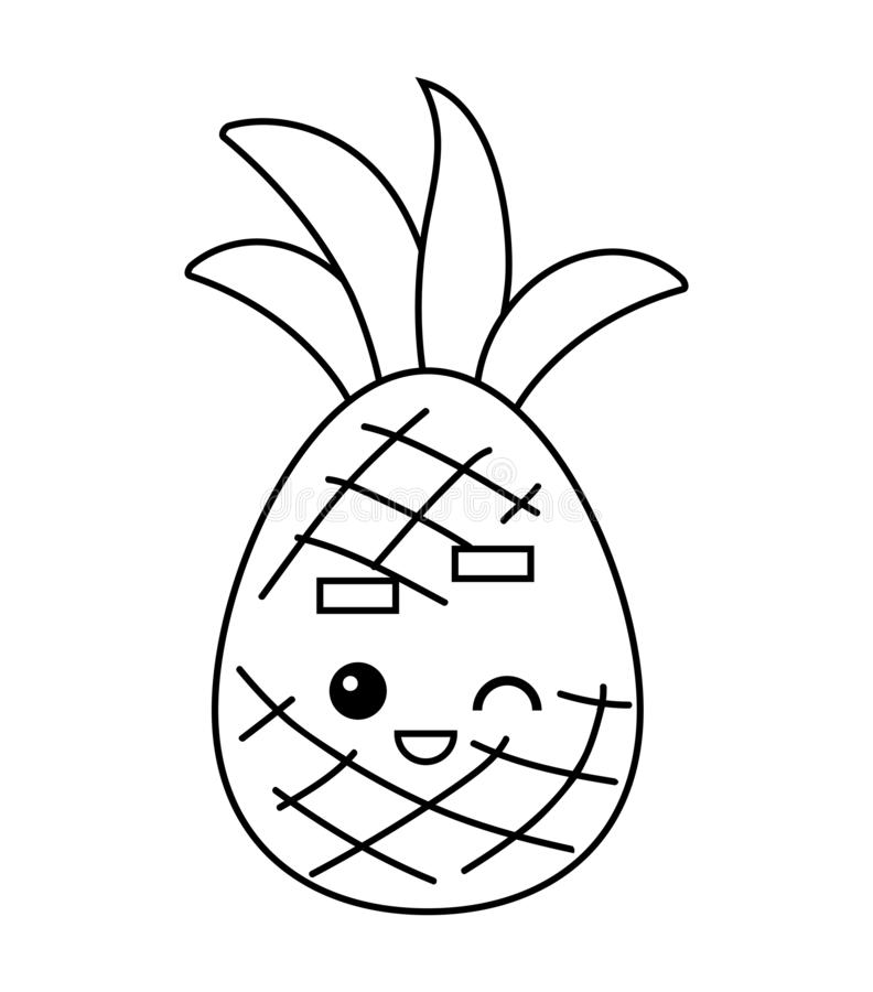 Ananas Avec Le Visage Illustration De Vecteur Illustration