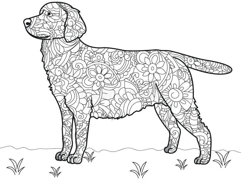 Livre De Coloriage Antistress De Labrador De Chien Vecteur