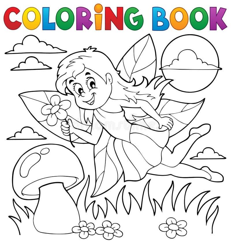 Livre de coloriage avec la fée 1 illustration de vecteur