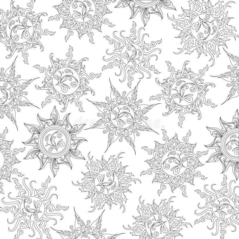 Livre de coloriage avec le modèle floral, découpe illustration stock