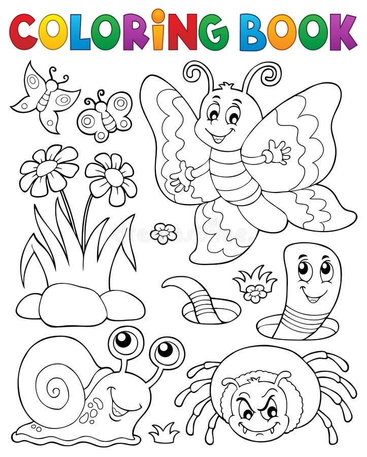 Livre de coloriage avec les petits animaux 4 illustration de vecteur