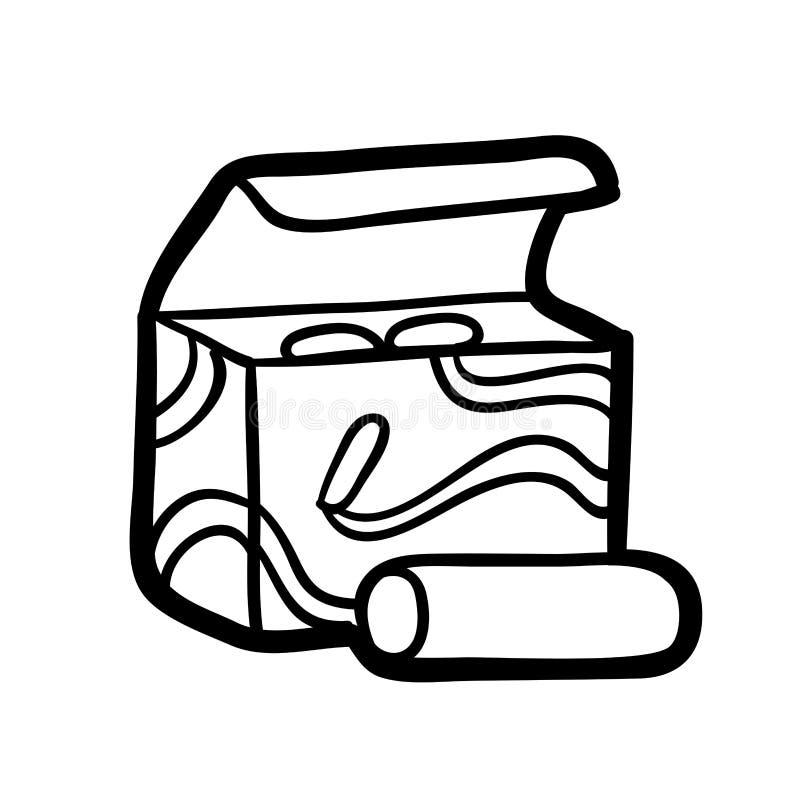 Livre de coloriage, boîte de craie illustration stock