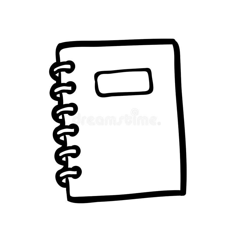 Livre de coloriage, carnet de notes à spirale illustration stock