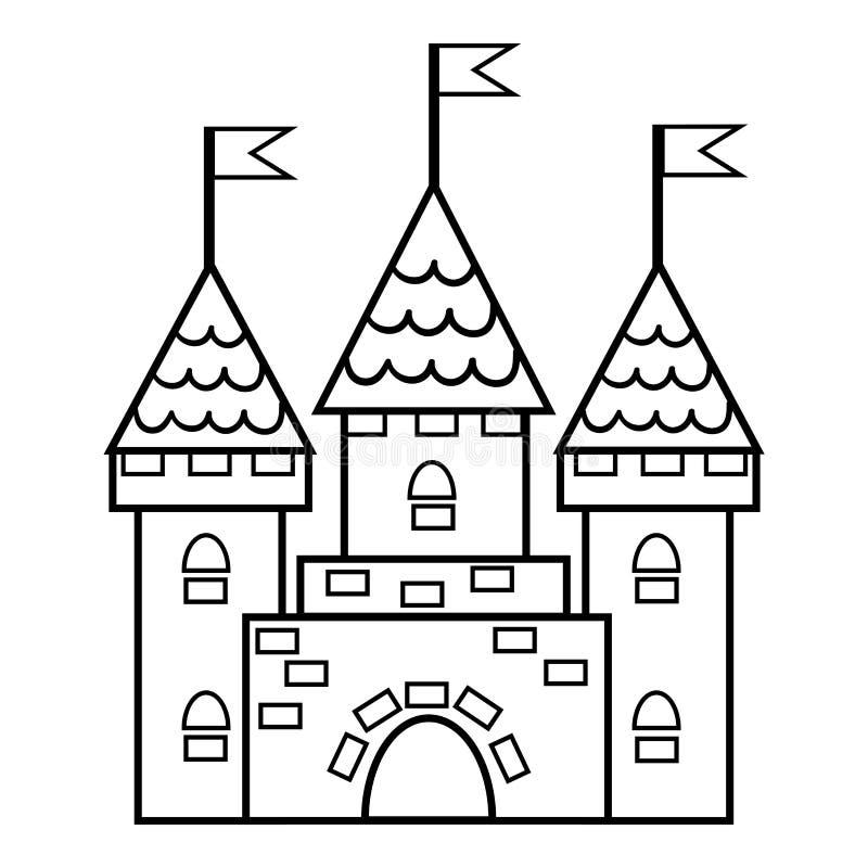 Livre de coloriage, château illustration stock