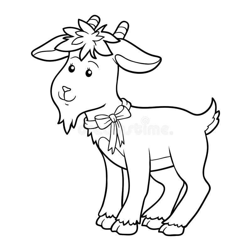 Livre de coloriage (chèvre) illustration de vecteur