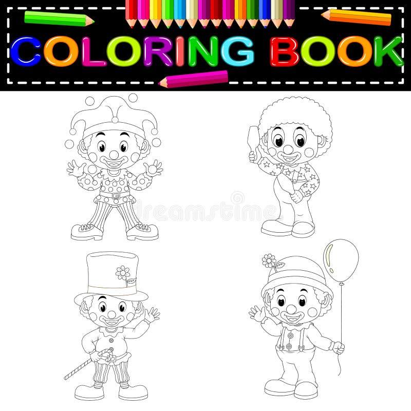 Livre de coloriage de clown illustration de vecteur