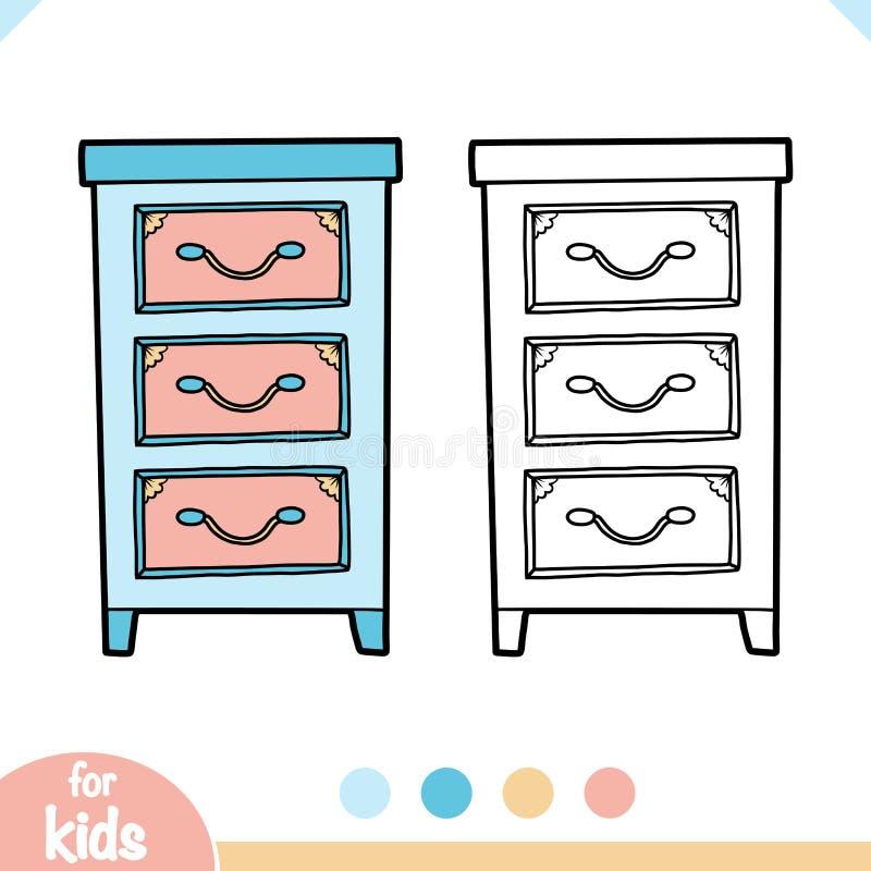 Livre de coloriage, commode illustration stock