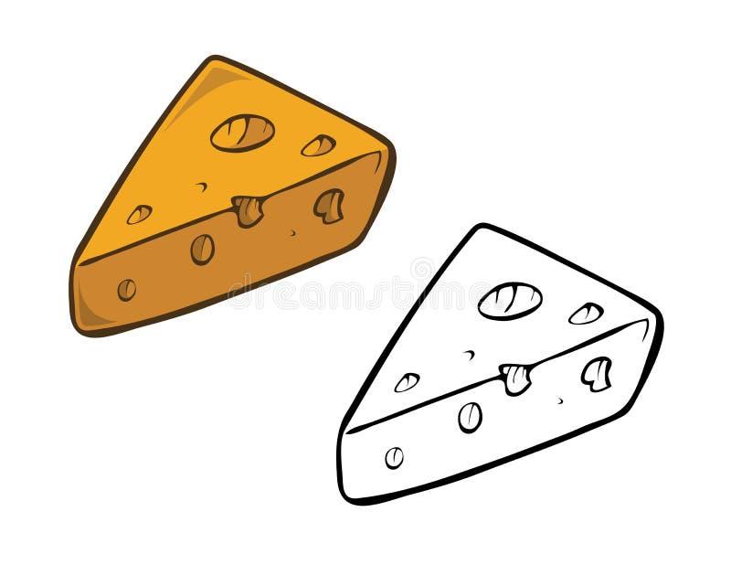 Livre de coloriage de fromage illustration de vecteur