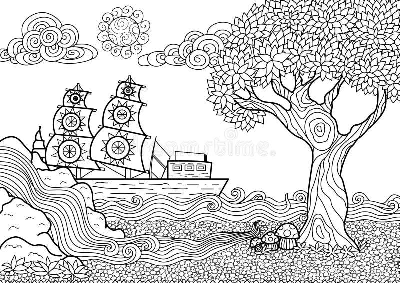 Livre de coloriage de paysage