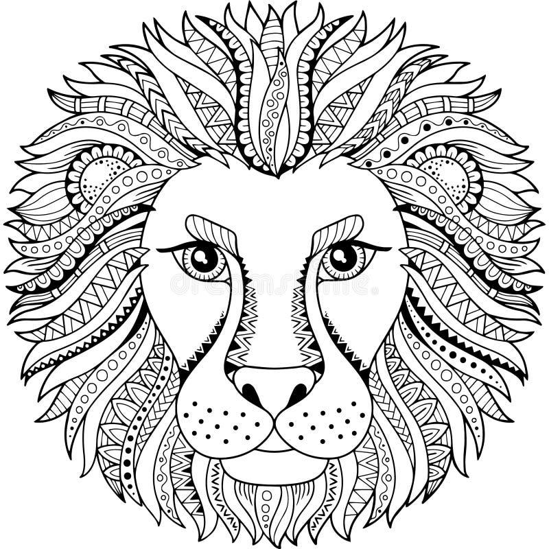 Livre de coloriage de vecteur pour l 39 adulte silhouette de - Lionne dessin ...