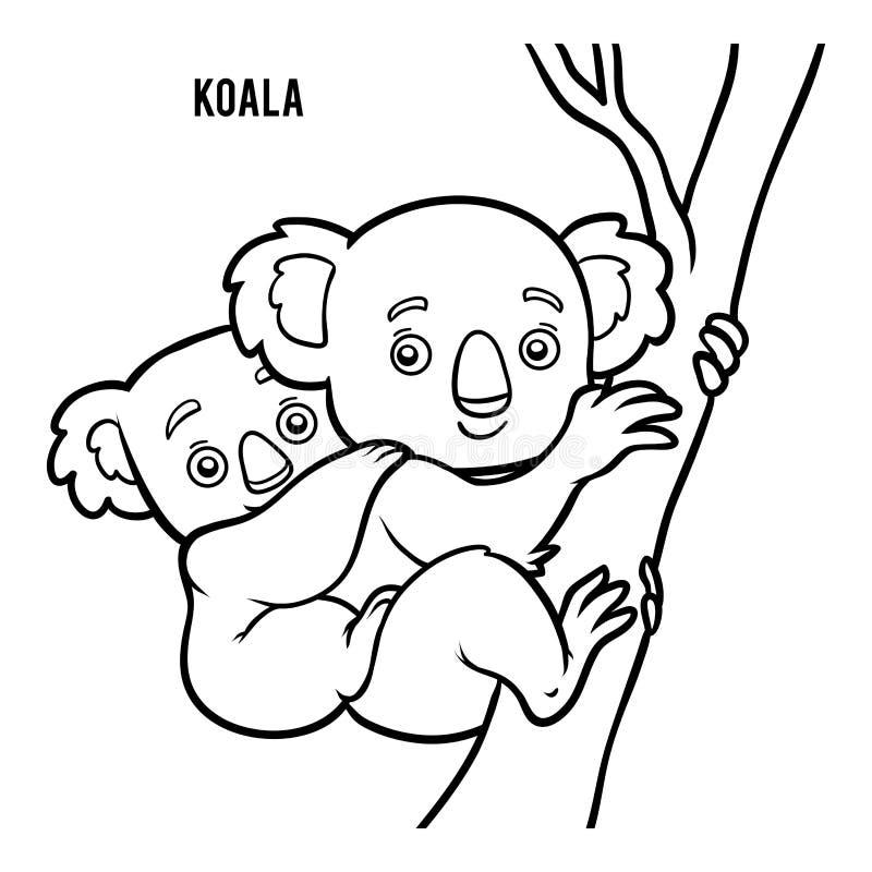 Livre De Coloriage Koala Illustration De Vecteur Illustration Du