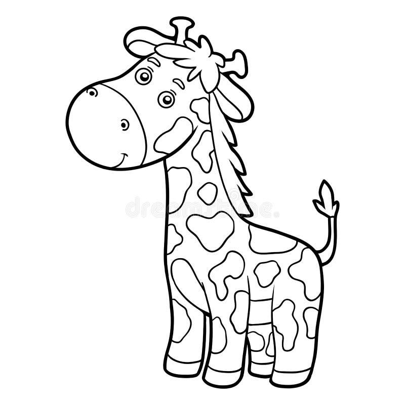 Livre de coloriage, page de coloration (girafe) illustration de vecteur