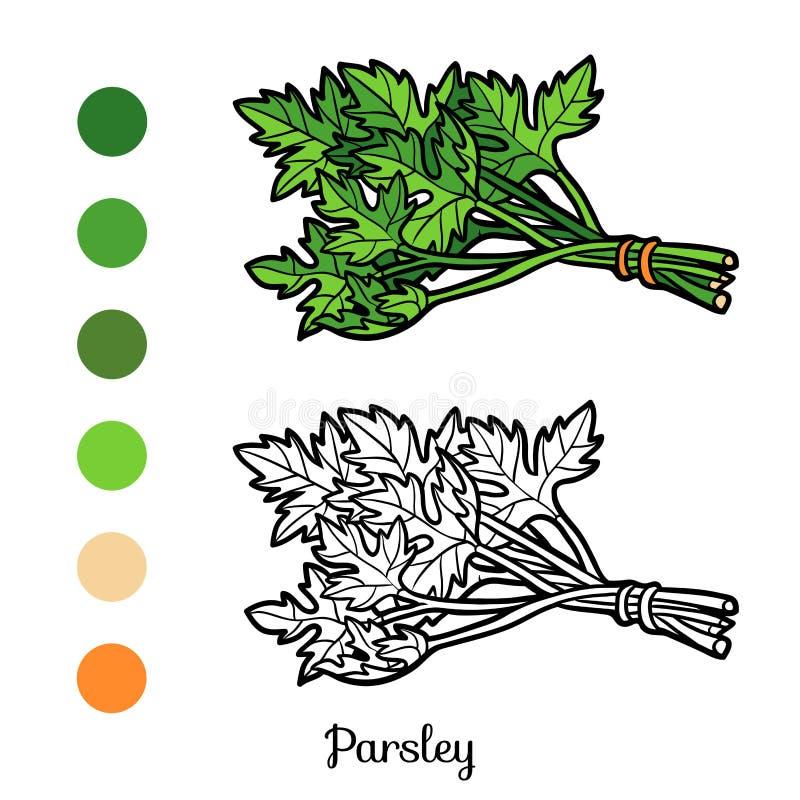 Livre de coloriage, persil illustration de vecteur