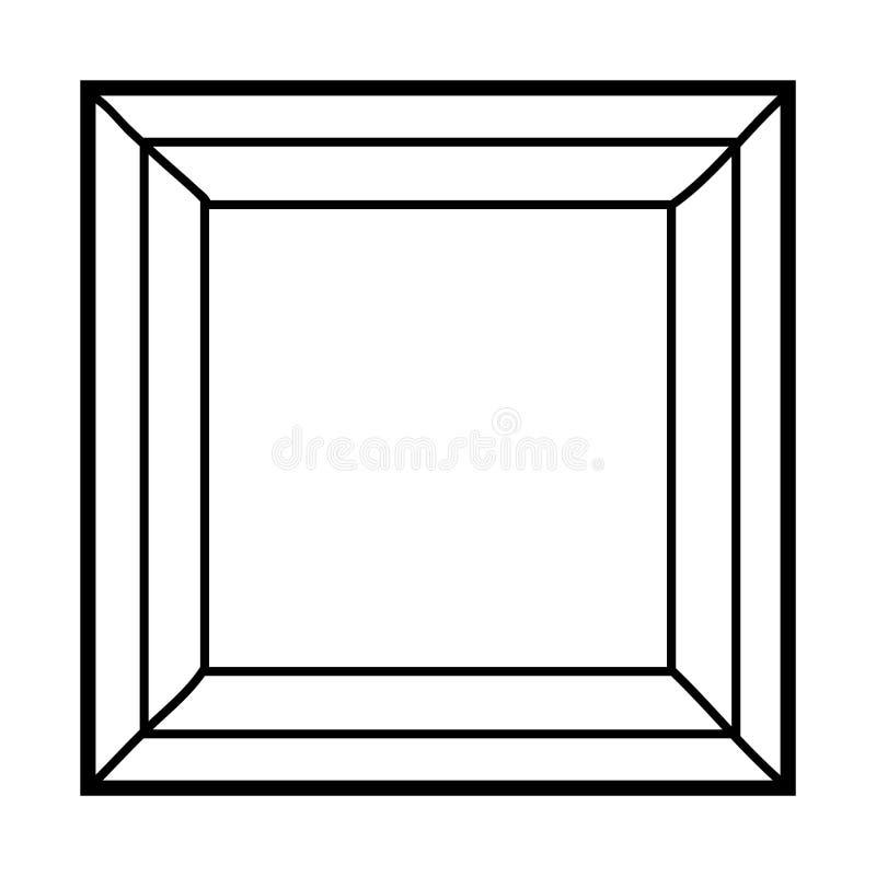 Livre de coloriage, pierre gemme illustration de vecteur