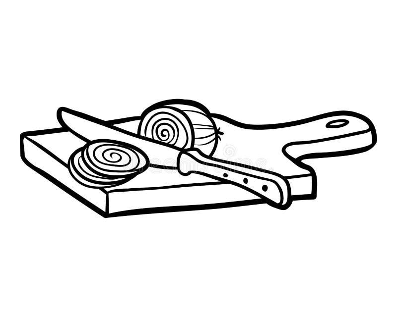 Livre De Coloriage Planche A Decouper Et Oignon Illustration De Vecteur Illustration Du Decouper Coloriage 97426788