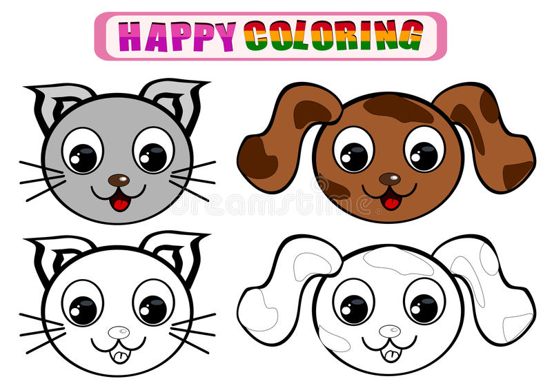 Livre de coloriage pour des enfants illustration de vecteur
