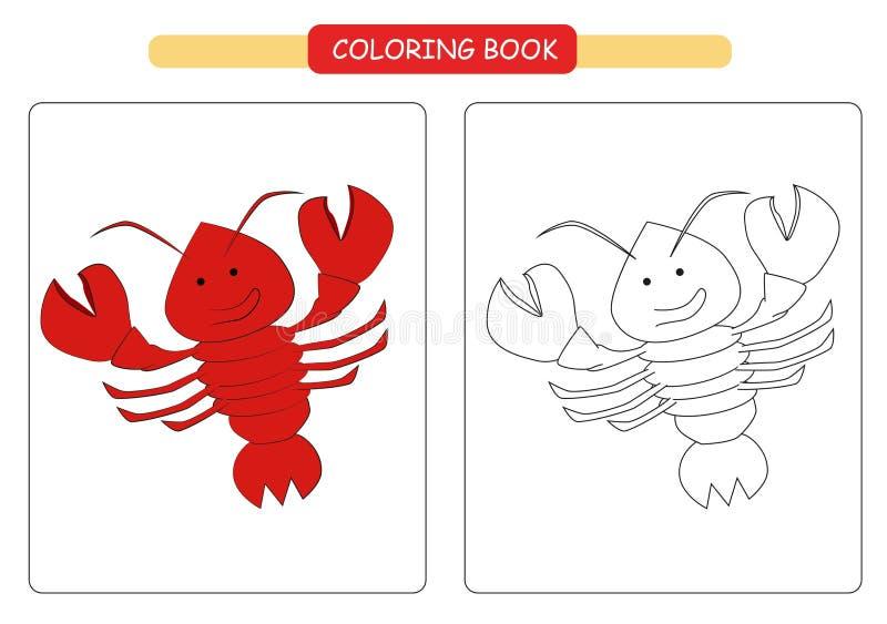 Lobster_book illustration de vecteur. Illustration du ...