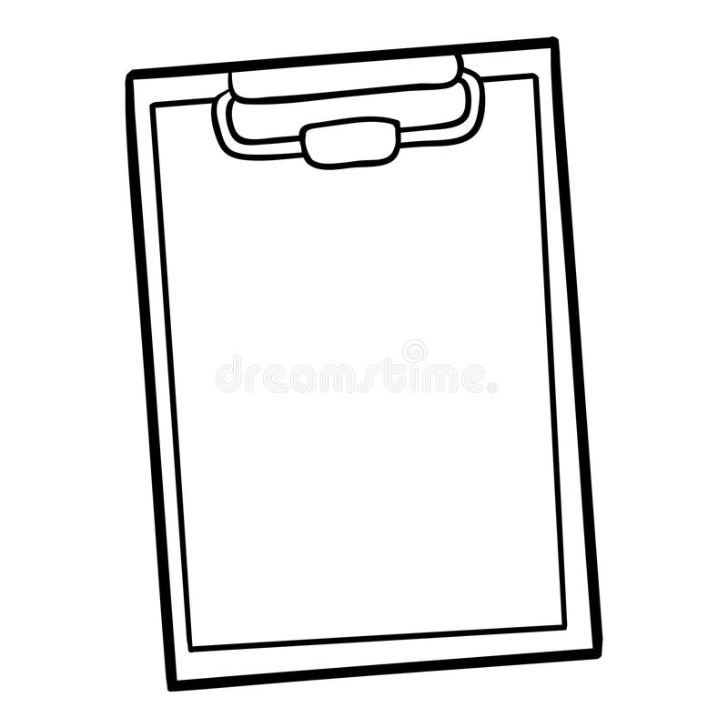 Livre de coloriage, presse-papiers illustration de vecteur