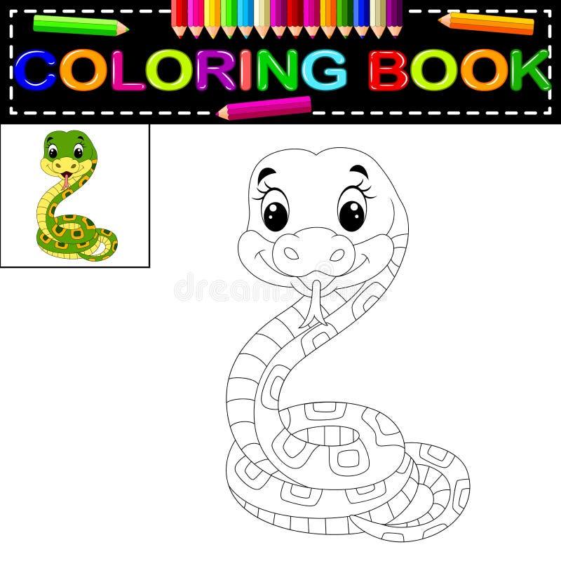 Livre de coloriage de serpent illustration libre de droits