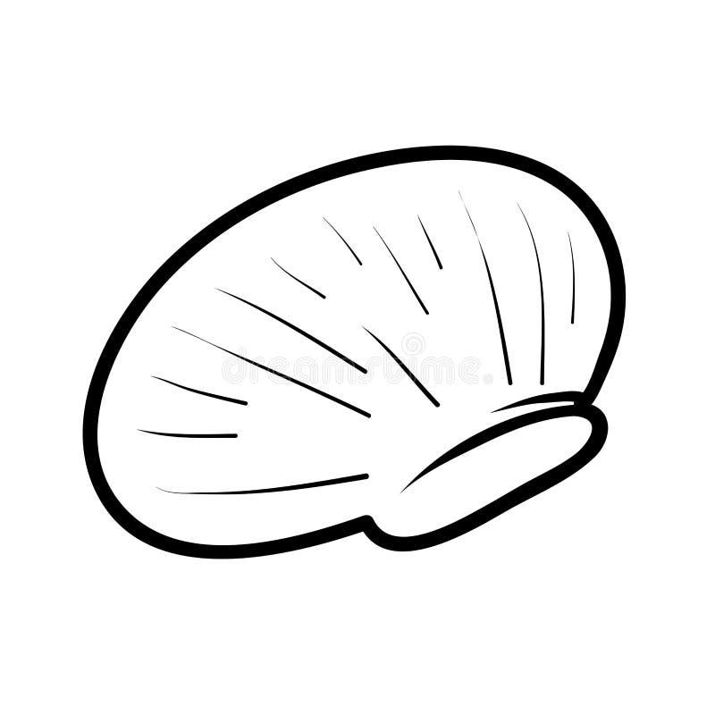 Livre de coloriage, Shell illustration libre de droits