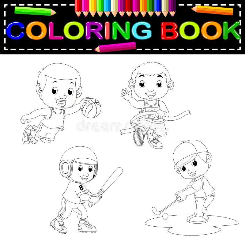 Livre de coloriage de sport illustration de vecteur