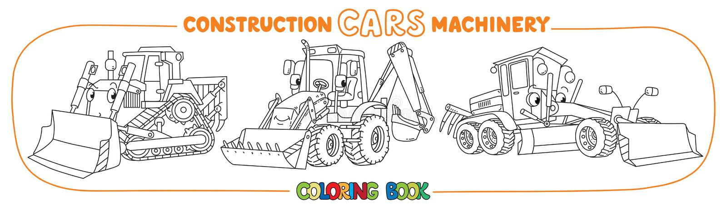 Livre de coloriage de transport de machines de construction illustration libre de droits