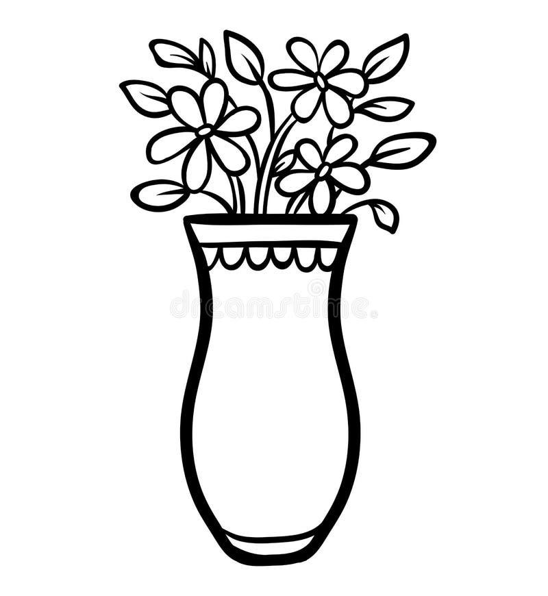 Livre de coloriage, vase illustration stock