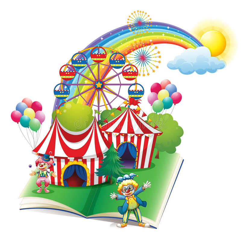 Livre de contes au sujet du carnaval illustration de vecteur