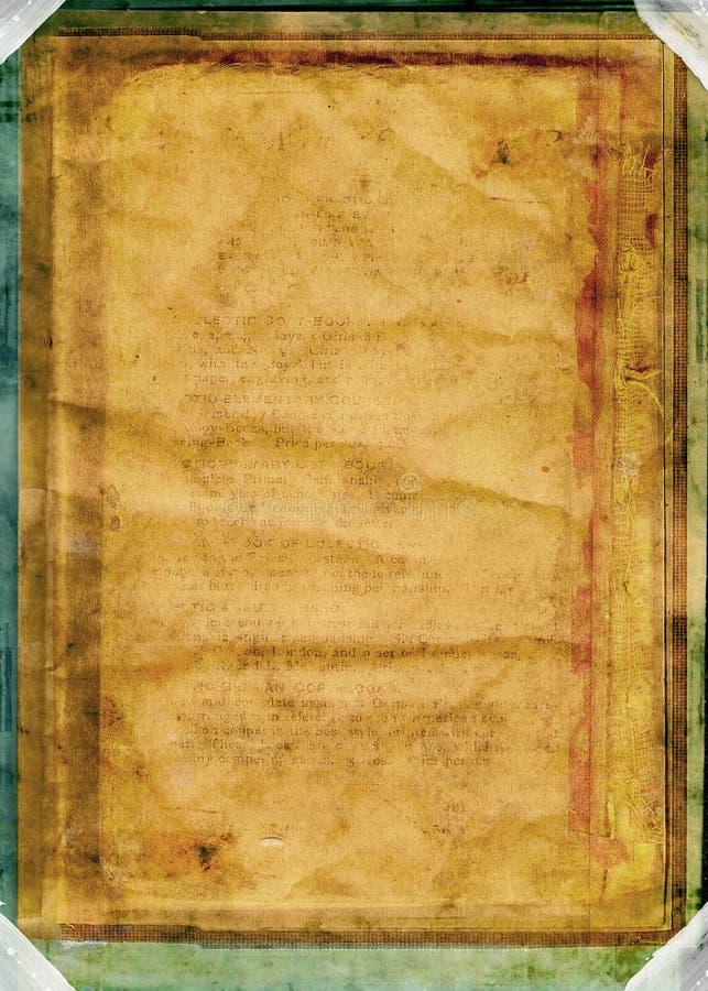 Livre de cru/worn&distressed illustration de vecteur