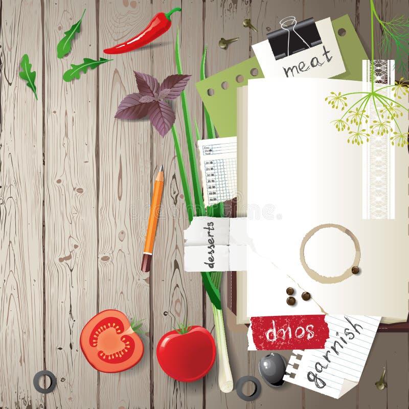 Livre de cuisine illustration stock