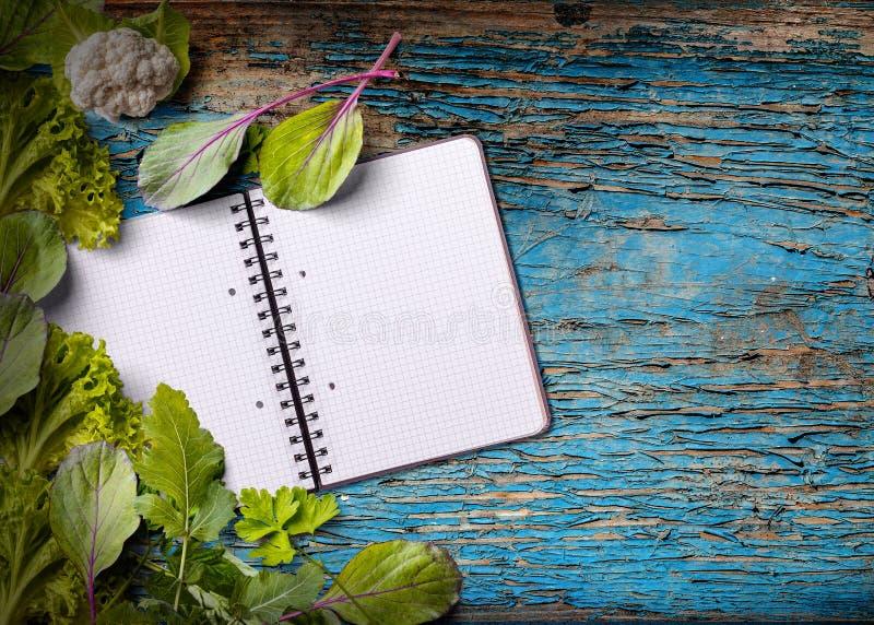 Livre de cuisine vide pour l'espace de copie photo libre de droits