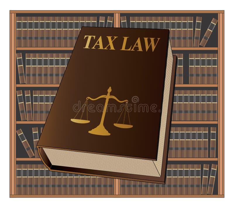 Livre de droit fiscal illustration stock