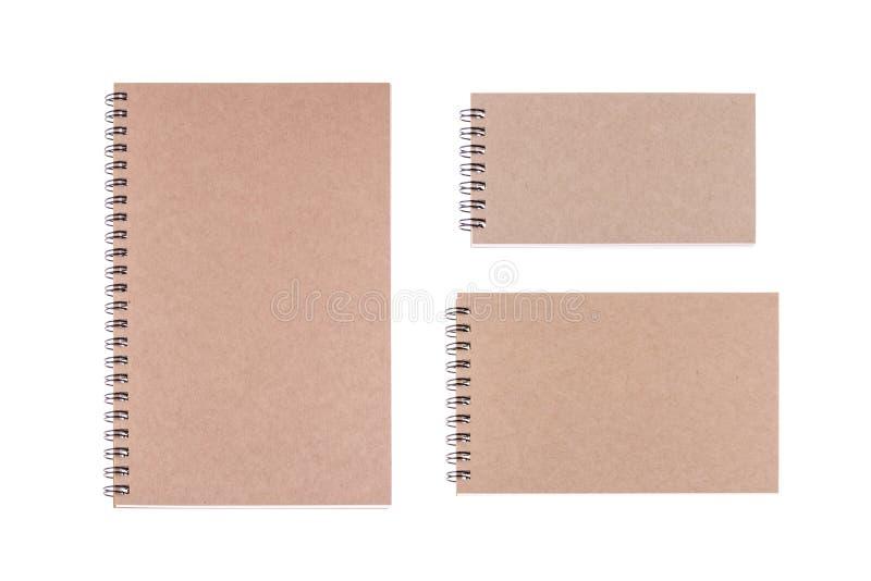 Livre de journal intime de vintage sur le fond blanc images stock