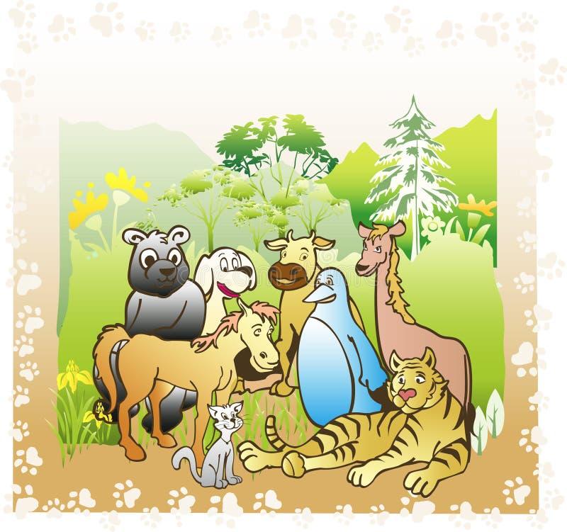 Livre de jungle illustration libre de droits
