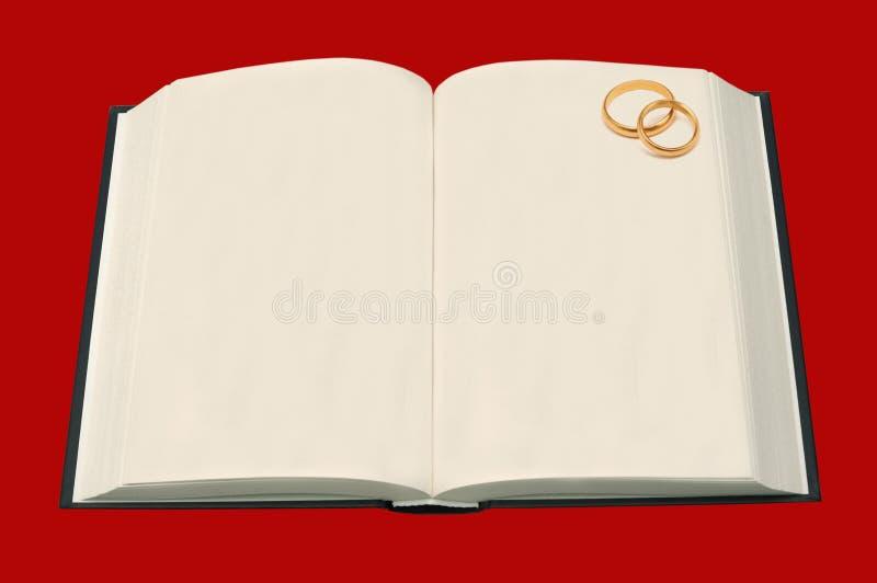 Livre de mariage image libre de droits