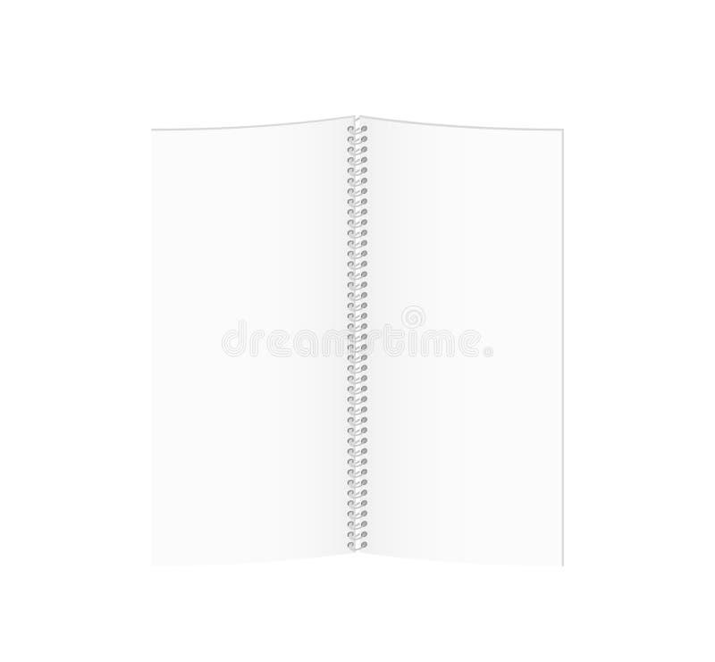 Livre de papier en spirale vide blanc illustration libre de droits