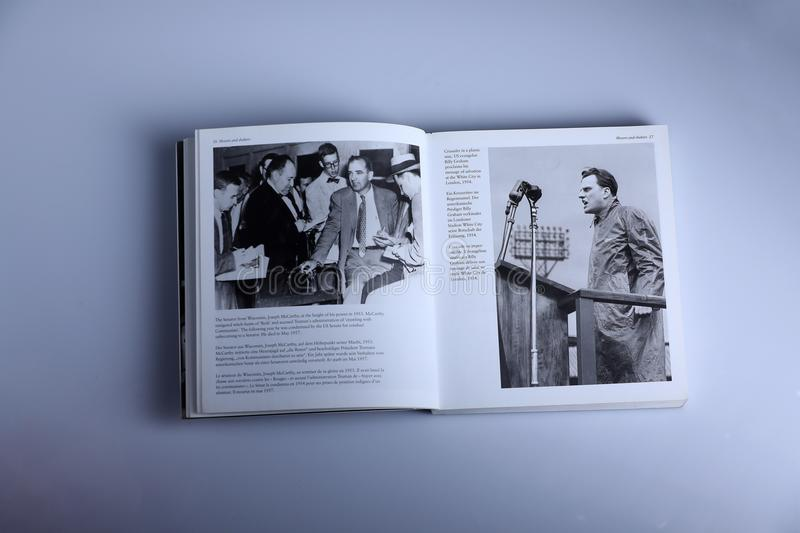 Livre de photographie par Nick Yupp, Joseph McCarthy et Billy Graham photo stock