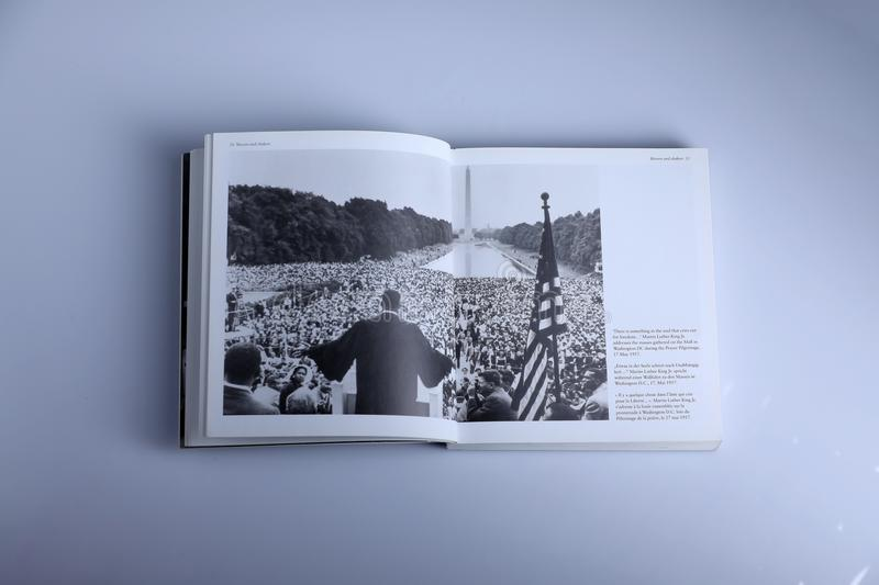 Livre de photographie par Nick Yupp, Martin Luther King Jr photographie stock libre de droits