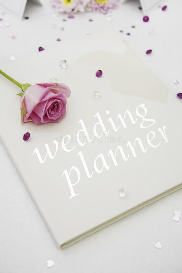 Livre de planificateur de mariage photos libres de droits