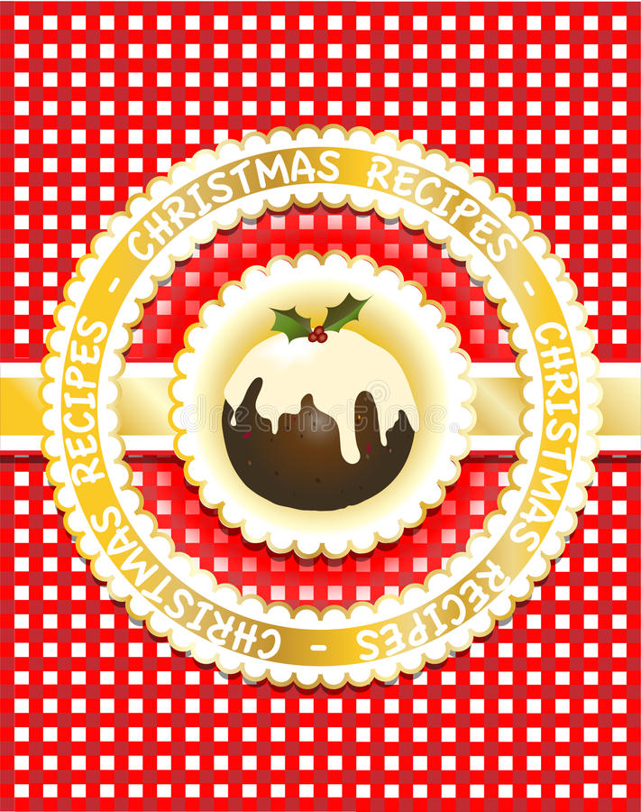 Livre de recette de Noël illustration libre de droits