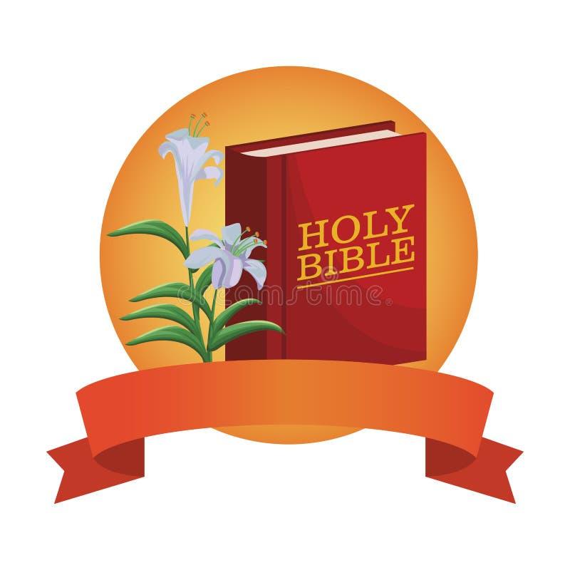 Livre de Sainte Bible illustration de vecteur